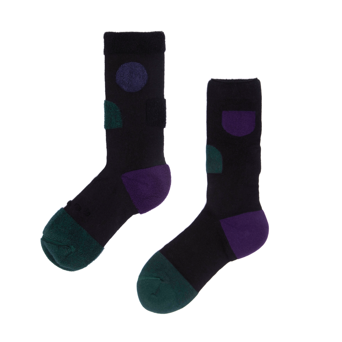 MY INNER BEAUTY: JIWA | Black & Bistro Green | Reversible Patterned Socks