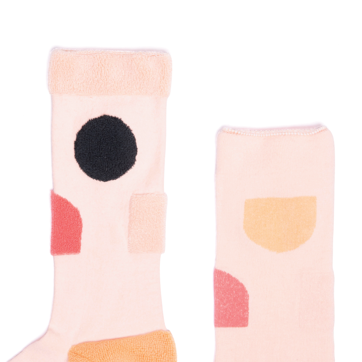 MY INNER BEAUTY: JIWA | Pink & Orange | Reversible Patterned Socks