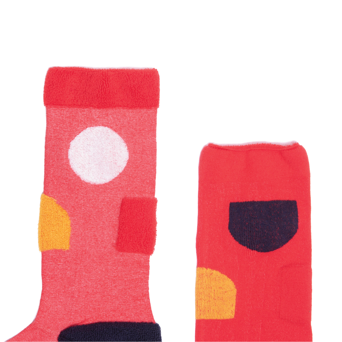 MY INNER BEAUTY: JIWA | Red & Reebok Gold | Reversible Patterned Socks