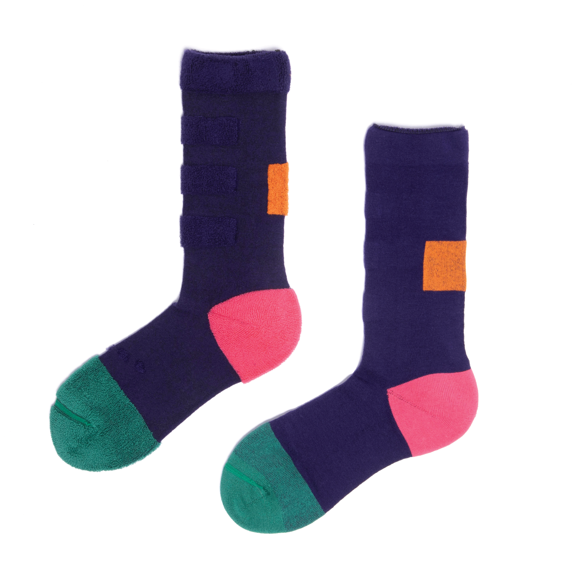 MY INNER BEAUTY: MINDA | Purple Pennant & Bistro Green | Reversible Patterned Socks