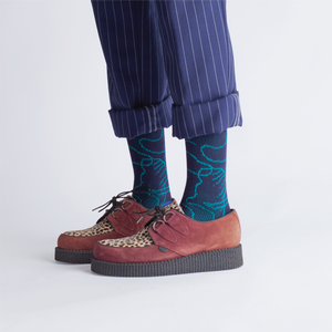 { The kawan project } Luna Island : Dark Blue & Royal Blue Socks