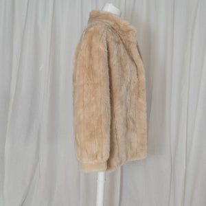 Faux Fur Puffy Sleeves Coat