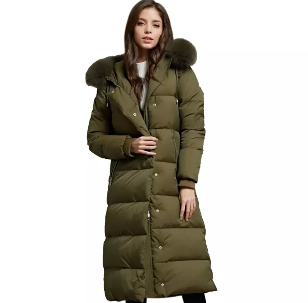 Verde Hooded Down Coat