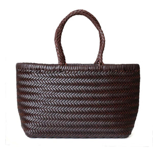 Hand-Braided Leather Shopper Bag