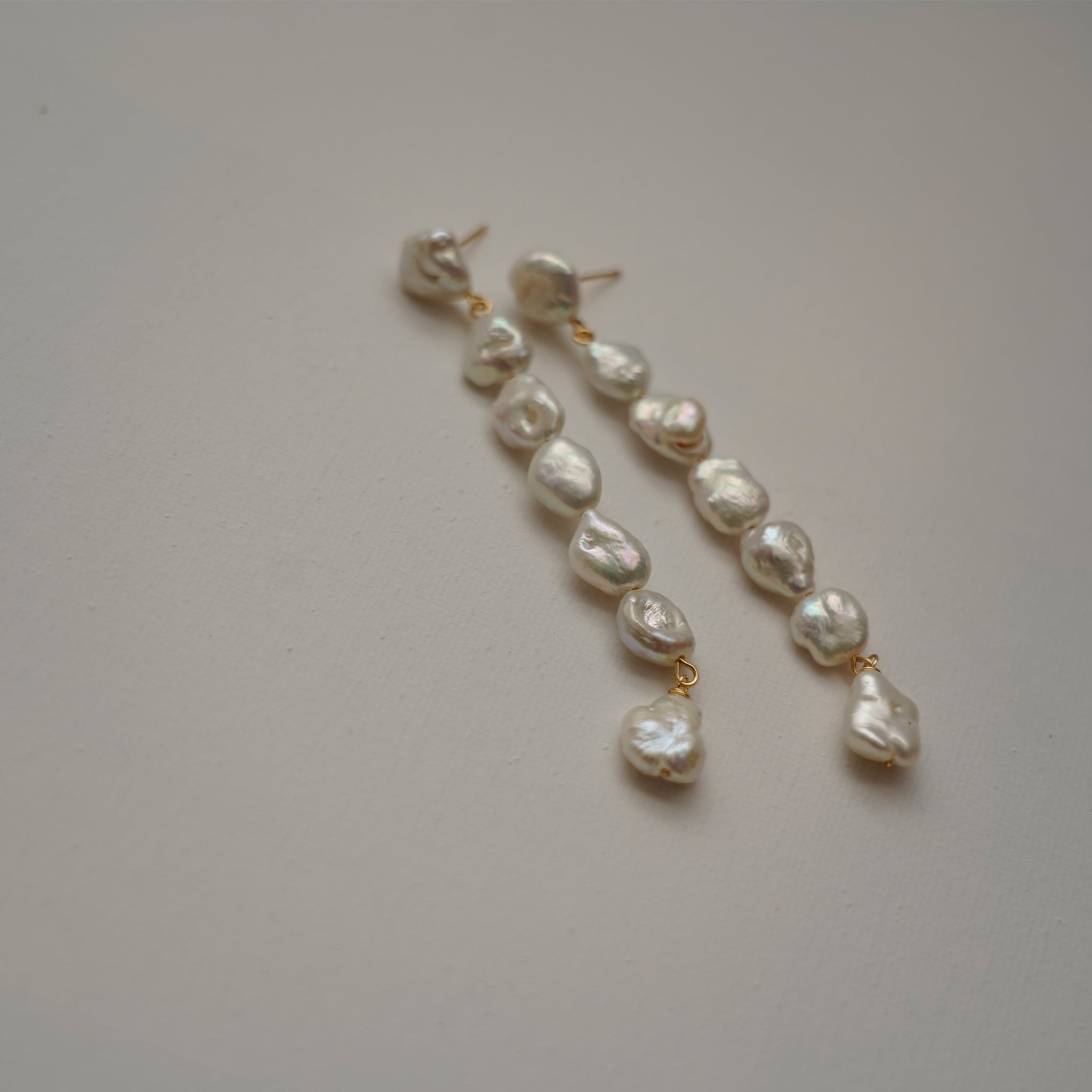 Handmade Long Pearl Earrings