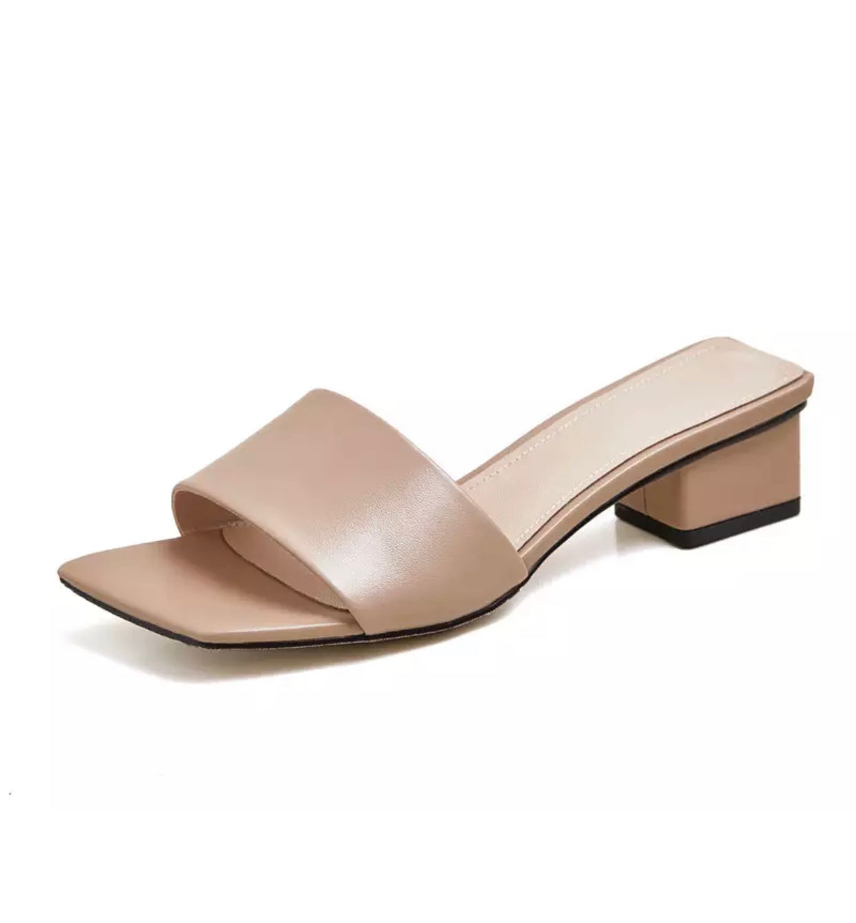 Square Leather Mules