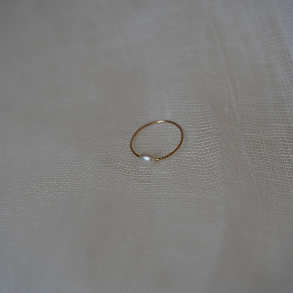 Minimal Single Pearl Ring