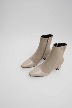 Heeled Suede Mix Boots
