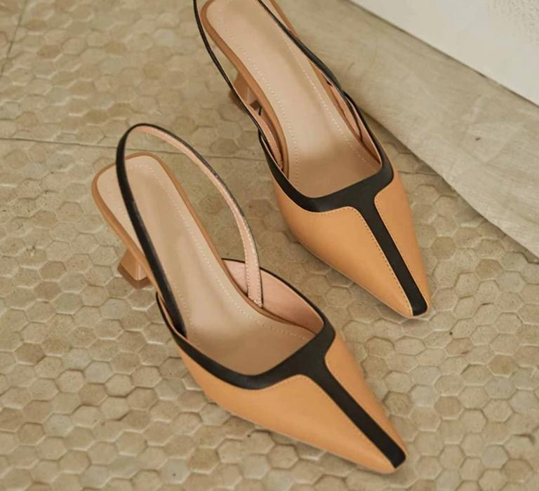 Classic Leather Slingback Pumps