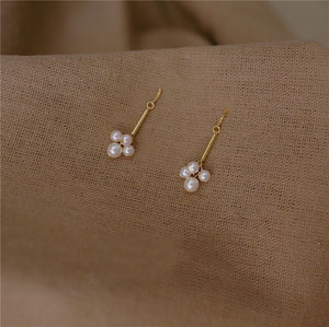 Gold Plated Long Drop Earrings
