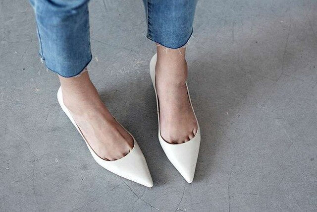 Pointed Toe Classic Leather Pumps
