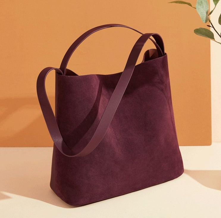 Suede Mix Hobo Bag
