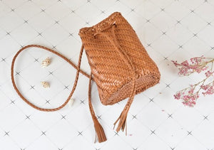 Handmade Leather Bucket Bag
