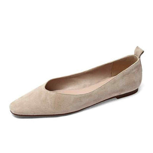 Suede Square Toe Flats