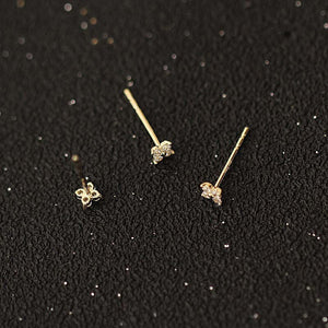 Mini 14 Karat Stud Earrings