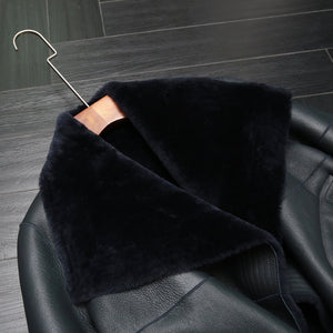 Merino Wool & Leather Shearling Jacket