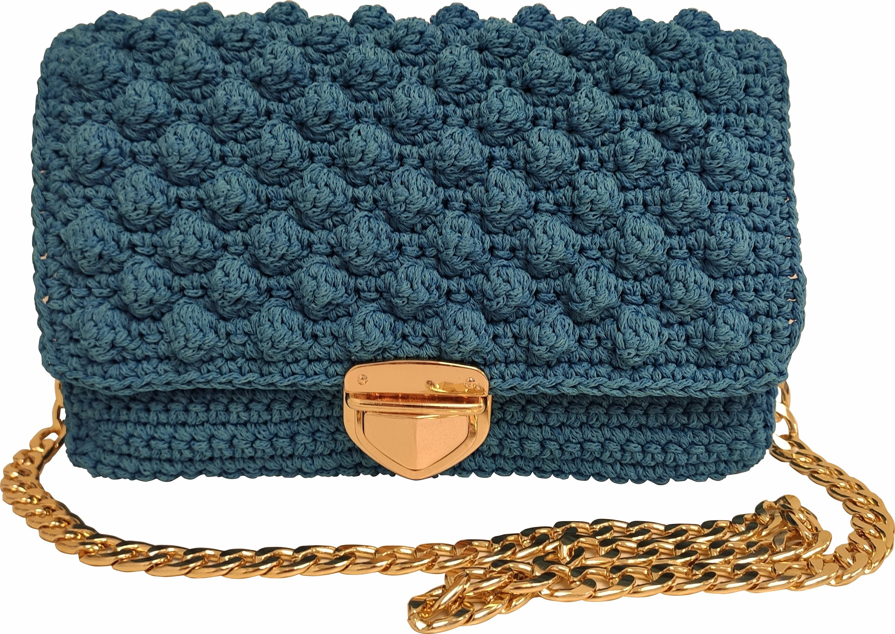 Handmade Knitted Chain Bag