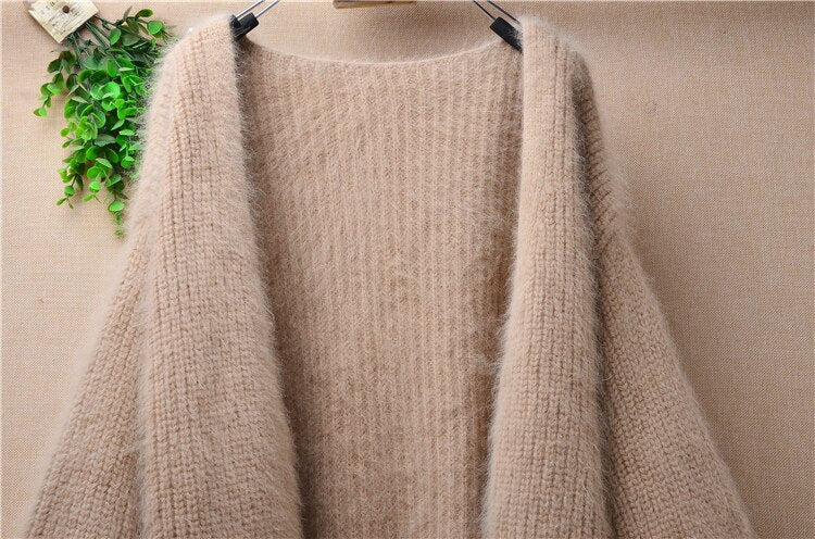 Striped Knitted Premium Cashmere Cardigan