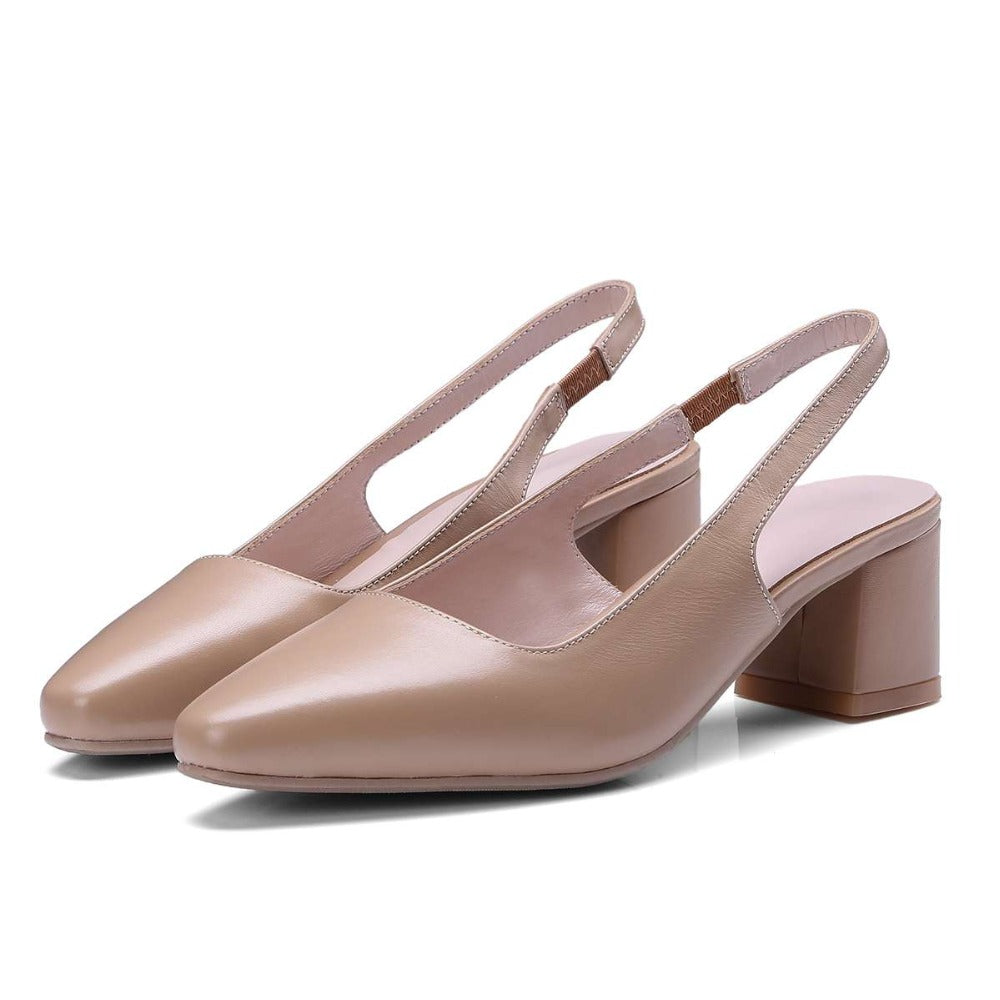 Slingback Pumps Square Toe
