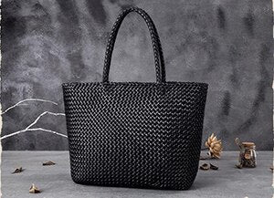Handmade Woven Soft Leather Tote Bag