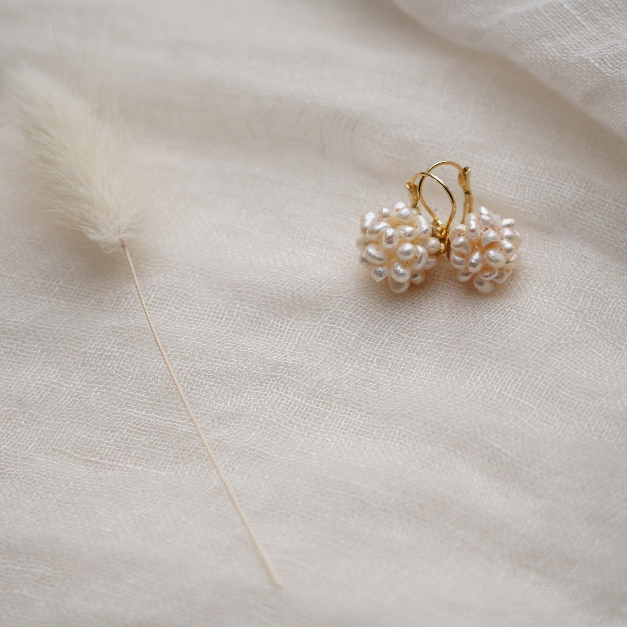Rice Pearl Earrings