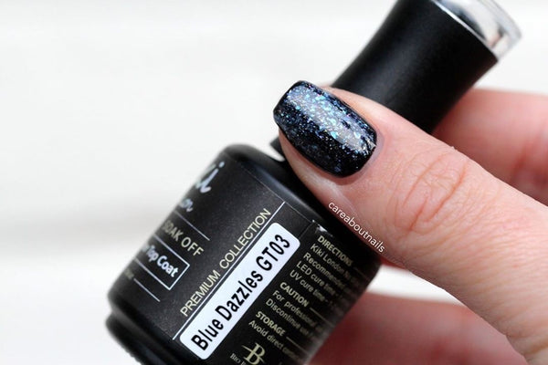 Blue Dazzles (Glitter Top Coat)