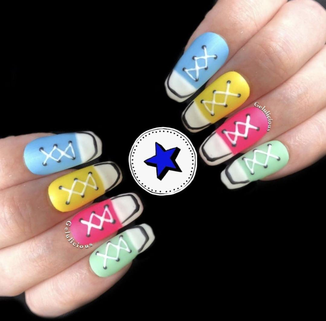 Get The Look: Nail Art: Converse Trainers (With Tutorial)