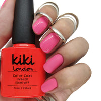 party punch nail gel nails gellack gellac manicure pink coral bright summer spring light pretty orange peach soft pink
