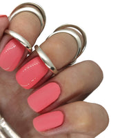 party punch nail gel nails gellack gellac manicure pink coral bright summer spring light pretty orange peach