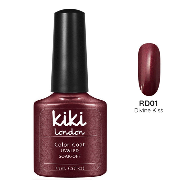 red burgundy deep dark wine gel polish nails nail manicure winter autumn maroon brown shimmer
