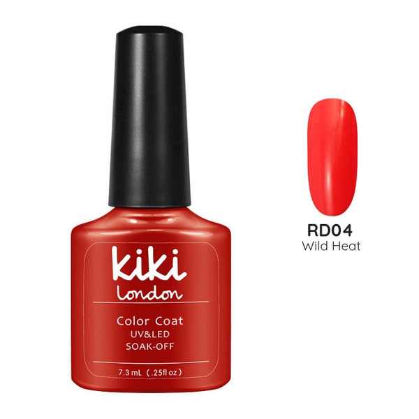 red nails classic bright gel polish nail nails christmas festive bright orange coral neon