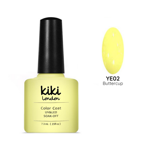 yellow gel polish nails nail manicure bright summer light lemon neon