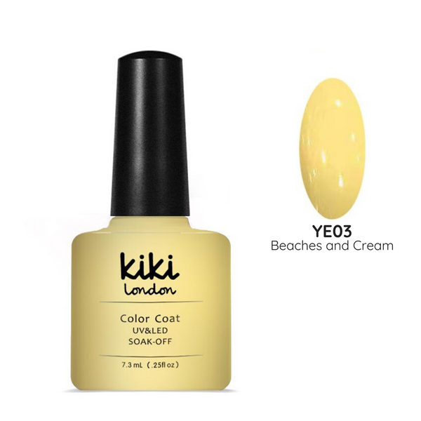 gel polish nails nail yellow pastel pale beach summer spring light creamy