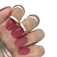 gel polish nail nails pink red classic winter autumn fall deep dark rosey creme manicure brick