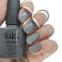 Nail gel polish nails grey dark deep charcoal