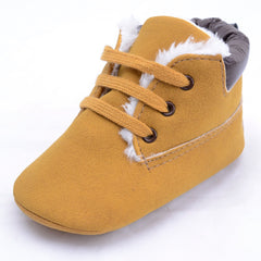 Infant Baby Boys High-top Leather Sneaker Toddler Baby Shoes