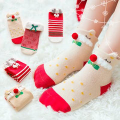Christmas Baby Cotton Socks Winter Warm 1-8y Socks