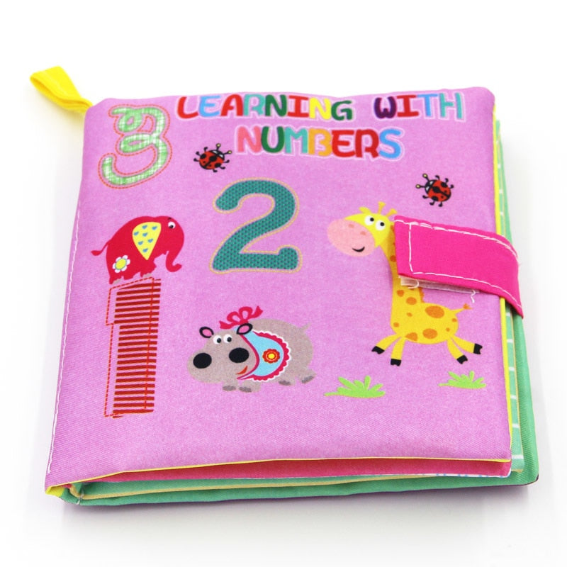 Baby Toys Soft Cloth Books Rustle Sound Infant Educational Stroller Rattle Toy