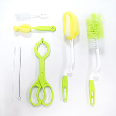 Baby Feeding Bottle Brush Set Plastic Sponge Bottle Cleaner