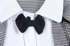 Baby Gentleman Romper Bow Ties Decor Boy Formal