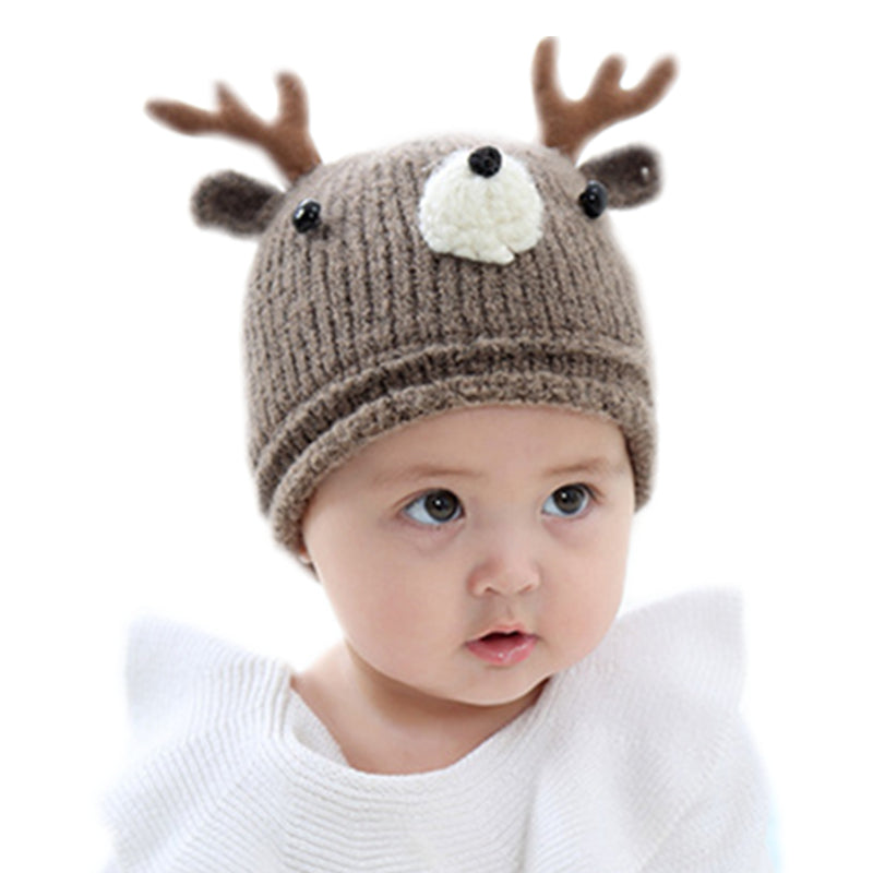 Baby beanie hat cap crochet knit Warm winter cartoon bear caps infant hats | BabyMother.net