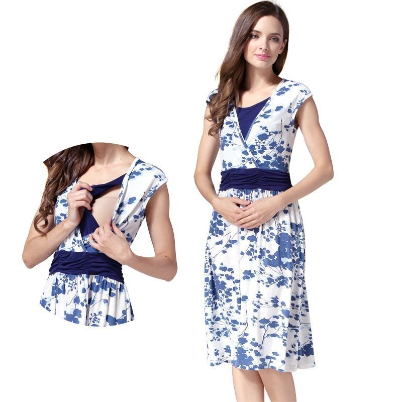 Maternity Clothes Nursing pregnant dress Breastfeeding Nursing Clothes ... b675e460ba46