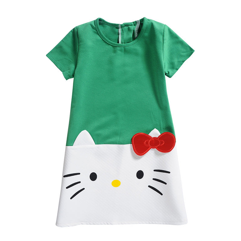 Hello Kitty Children Dresses For Girls  Princess Dress