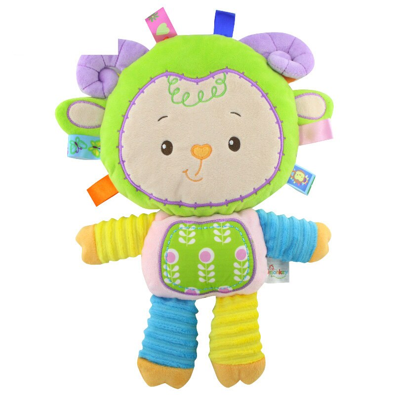 5 Styles Baby Toys Rattles Pacify Doll Plush Animal