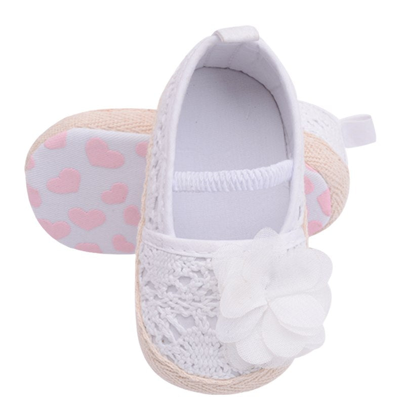 Knitting Infant Baby Princess Girls Shoes Shallow Toddler Flower