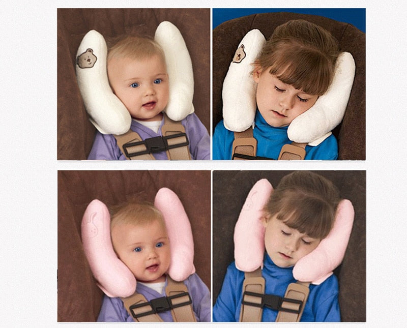 Infant Car Travel Sleeping safty Baby Pillow Head Neck Seat Covers