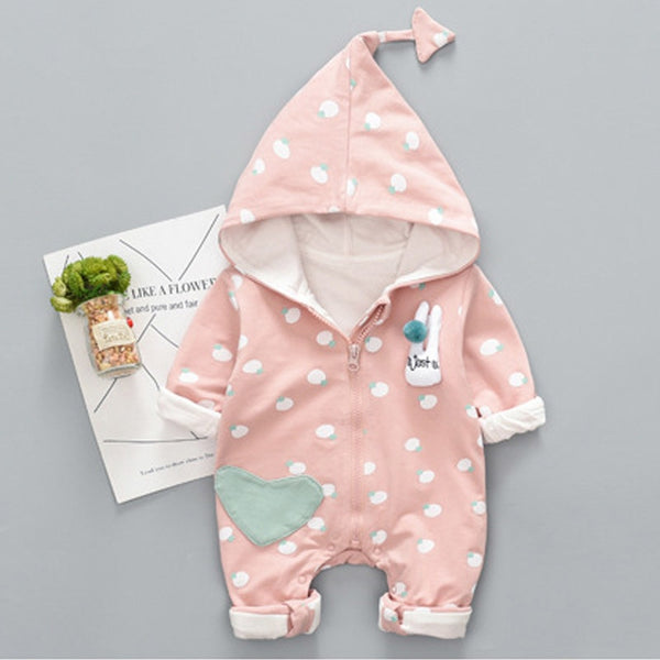 347b6cb93aaa Baby Rompers Autumn Long Sleeve Newborn Boy Girl Jumpsuit Cotton
