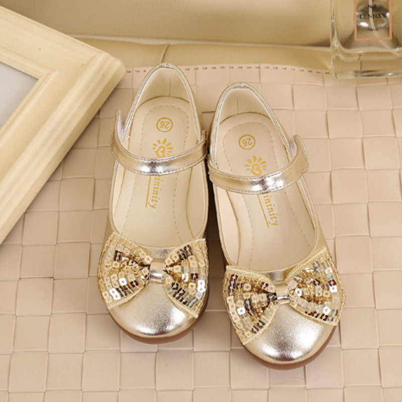 Princess Shoes With Butterfly Sequins Wedding for Girls  School Dance
