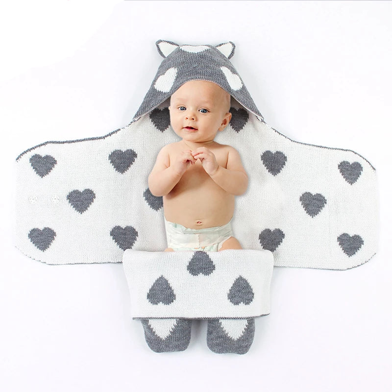 Newborn Baby Blankets Swaddle Knitted