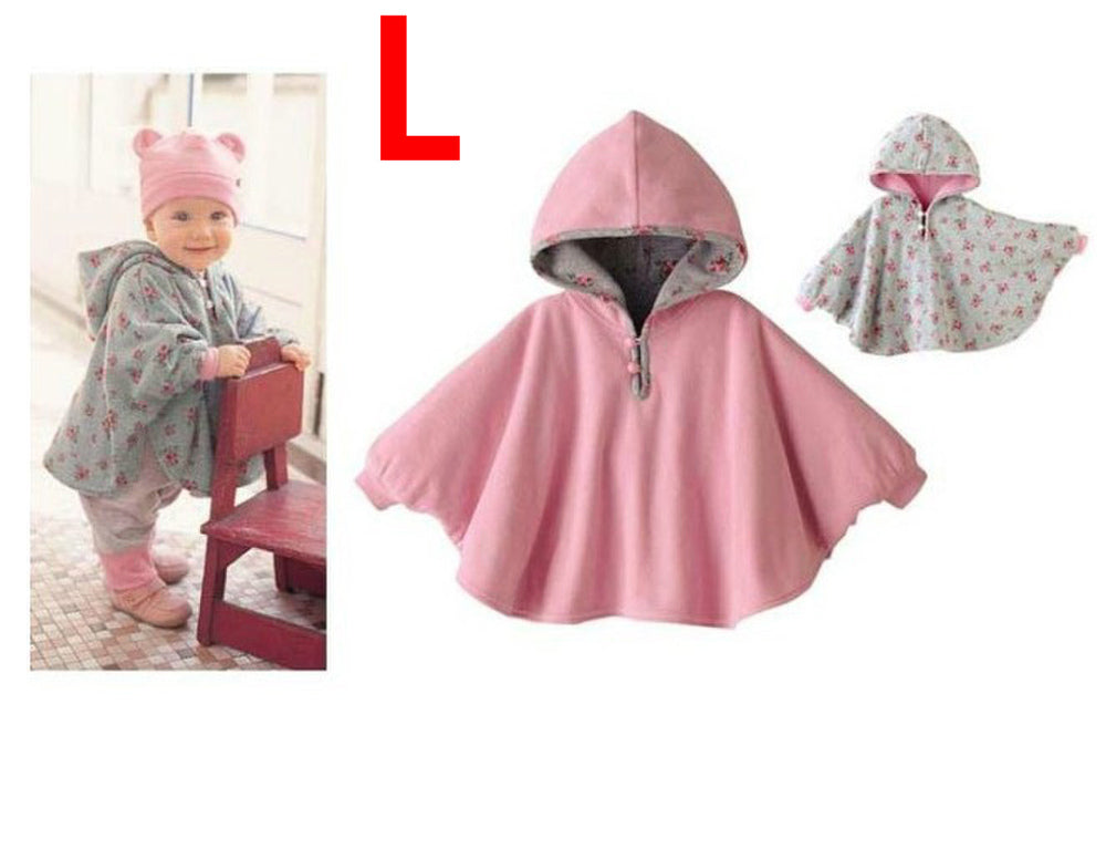 Baby Cloak Two-sided Wear Newborn Winter Thicking Coat Jacket Outwear